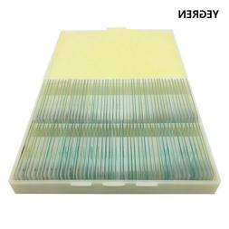 100 pcs Prepared Glass Microscope Slides for Student Science