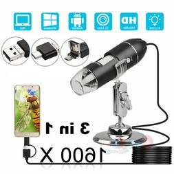 1000X/1600X USB Zoom Digital Microscope for Electronic Acces