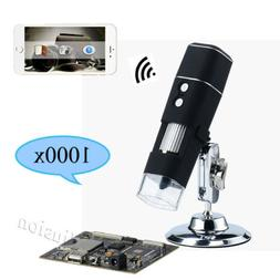 1000X 8 LED WiFi  Digital USB Microscope Endoscope Zoom for