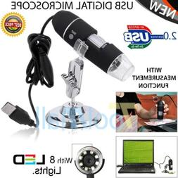 1000X 8LED USB 2.0 Digital 2MP Microscope Endoscope Zoom Cam