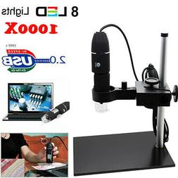 1000X Magnification 8LED USB Digital Microscope Camera Magni
