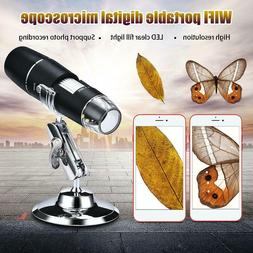 1000X WIFI USB Digital Microscope Magnifier Camera+Stand For