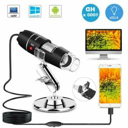 1000X Zoom 3in1 HD 8LED USB Microscope Digital Magnifier End