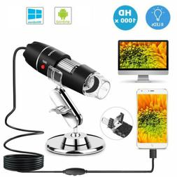 1000X Zoom 3in1 HD 1080P USB Microscope Digital Magnifier En