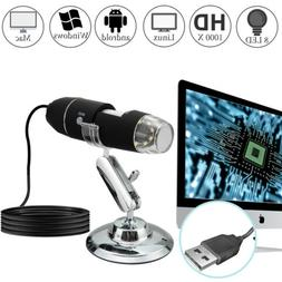 1000X Magnifier 8LED USB Digital Microscope Camera for iPhon
