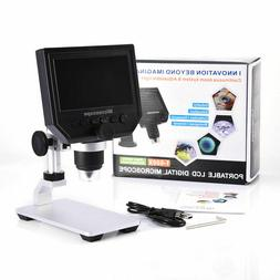 "1080P Digital Microscope 4.3"" HD OLED 3.6MP 1-600X Magnifier"