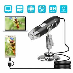 1600x Camera 8 LED OTG Endoscope USB Digital Microscope Magn