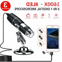 1600X USB Digital Microscope for Electronic Accessories Coin