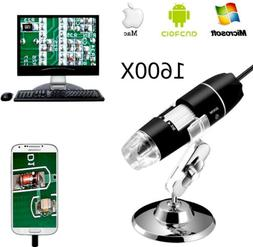 1600X USB Digital Microscope 8 LED for Electronic Accessorie