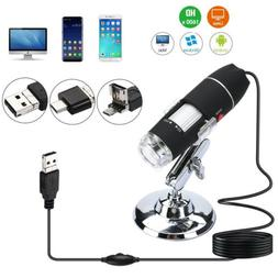 1600x USB Digital Microscope Camera 8 LED OTG Endoscope Magn