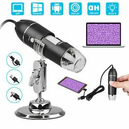 1600X USB Magnifier Digital Microscope Endoscope Stand for A
