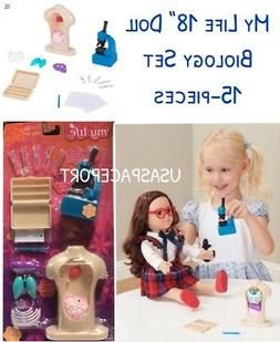 """18"""" Doll BIOLOGY Science Microscope School Set for My Life"""