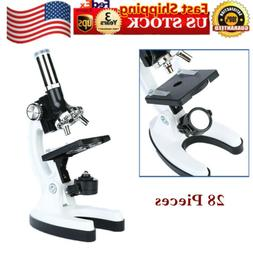 28 piece kids educational microscope scientific lab