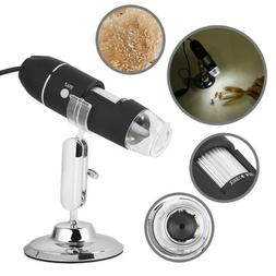 USB 2.0 1000X8 LED Digital Microscope Endoscope Zoom Camera