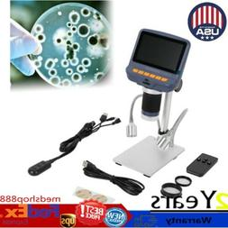 "4.3"" 1080P Digital Microscope with HD Sensor USB Lab Handhel"