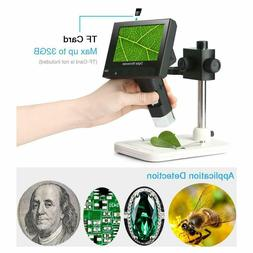 4.3 inch Full Color LCD Digital USB Microscope with 10X-600X