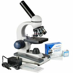 AmScope 40X-1000X All-Metal Optical Lens Compound Microscope
