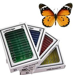BestOfferBuy 48 Plastic Prepared Microscope Slides Kit BONUS