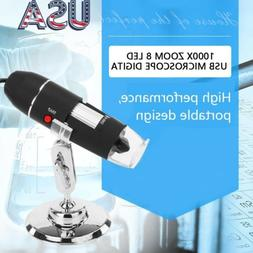 8 LED 1000X USB 2.0 Digital Microscope Endoscope Magnifier C