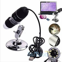 8 LED USB 2.0 Digital Microscope 1000X Endoscope Zoom Camera