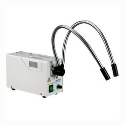 AmScope 150 Watt Bifurcated Fiber Optic Illuminator for Ster