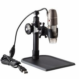 AmScope 500X 2MP Digital USB Zoom 8-LED 3D Microscope Endosc