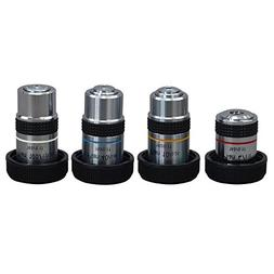 OMAX 4X 10X 40X and 100X PLAN Achromatic Objective Set for C