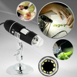 Adjustable Microscope 8 LED Magnification Digital With Stand
