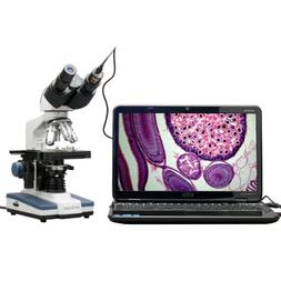 AmScope 40X-2500X LED Digital Binocular Compound Microscope