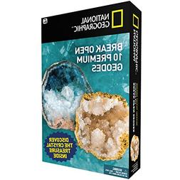 National Geographic Break Open 10 Premium Geodes – Include