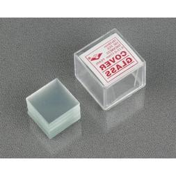 AmScope 100pc Pre-Cleaned 18mmx18mm Square Microscope Glass
