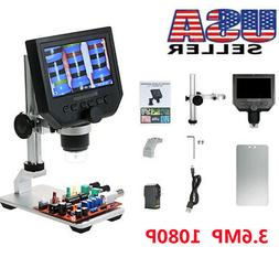 """Electronic Digital Video Microscope 600X 4.3"""" LCD 3.6MP Magn"""