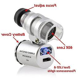 Grow Room Microscope - 60x Handheld Mini Pocket LED Loupe Ma