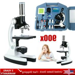 Kids Beginner Compound Microscope Kit with Carrying Case 100