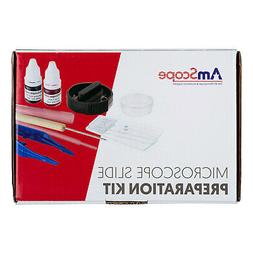 AMSCOPE-KIDS Microscope Slide Preparation Kit with Microtome