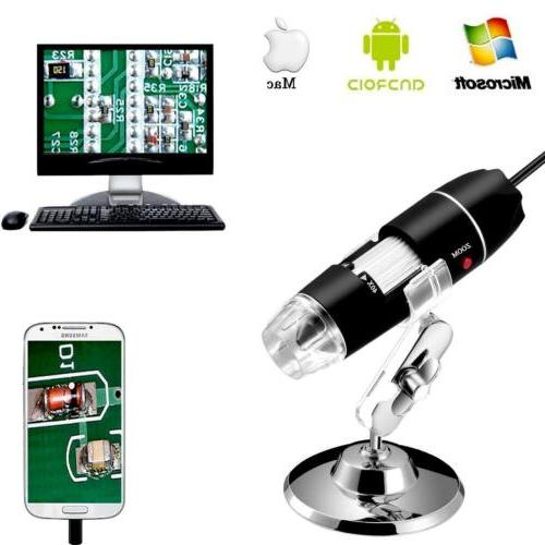 1600X 8LED USB 2.0 Digital 2MP Microscope Endoscope Zoom Cam