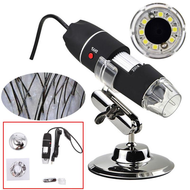 1000X 8LED Digital Zoom Camera Magnifier+Stand