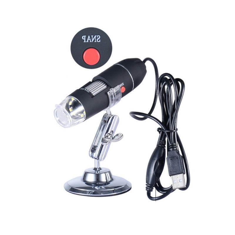 1000X 8LED USB Digital Endoscope Zoom Magnifier+Stand