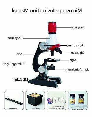 AmScope Starter Science Compound Microscope Set