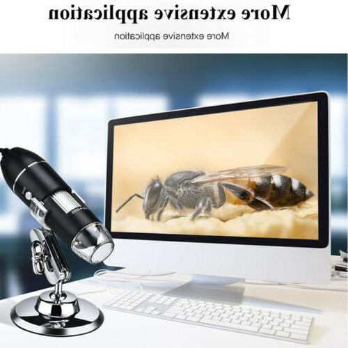1600X 3in1 8LED USB Magnifier Endoscope Video