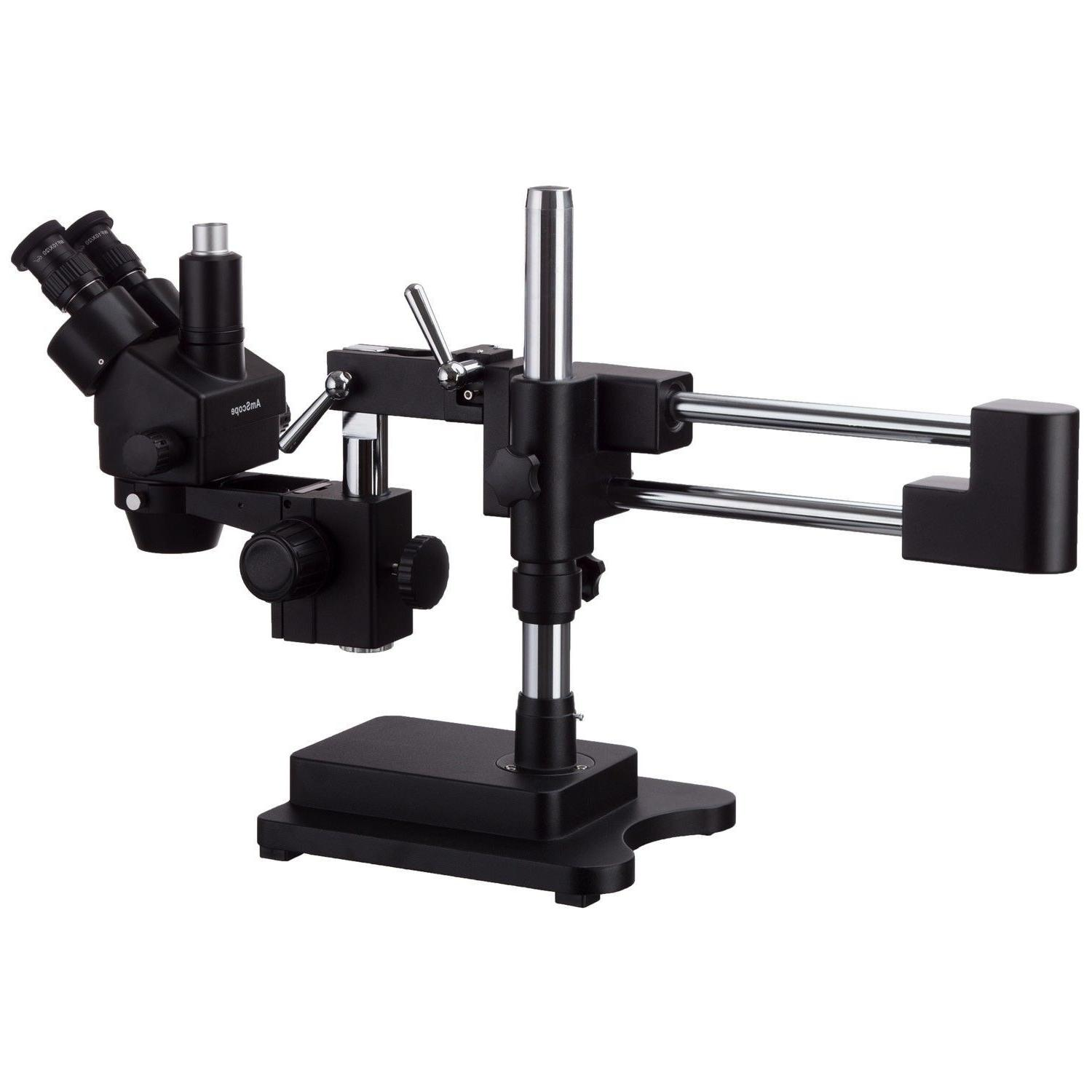 AmScope 3.5X-90X Stereo Zoom Microscope Double Arm Boom