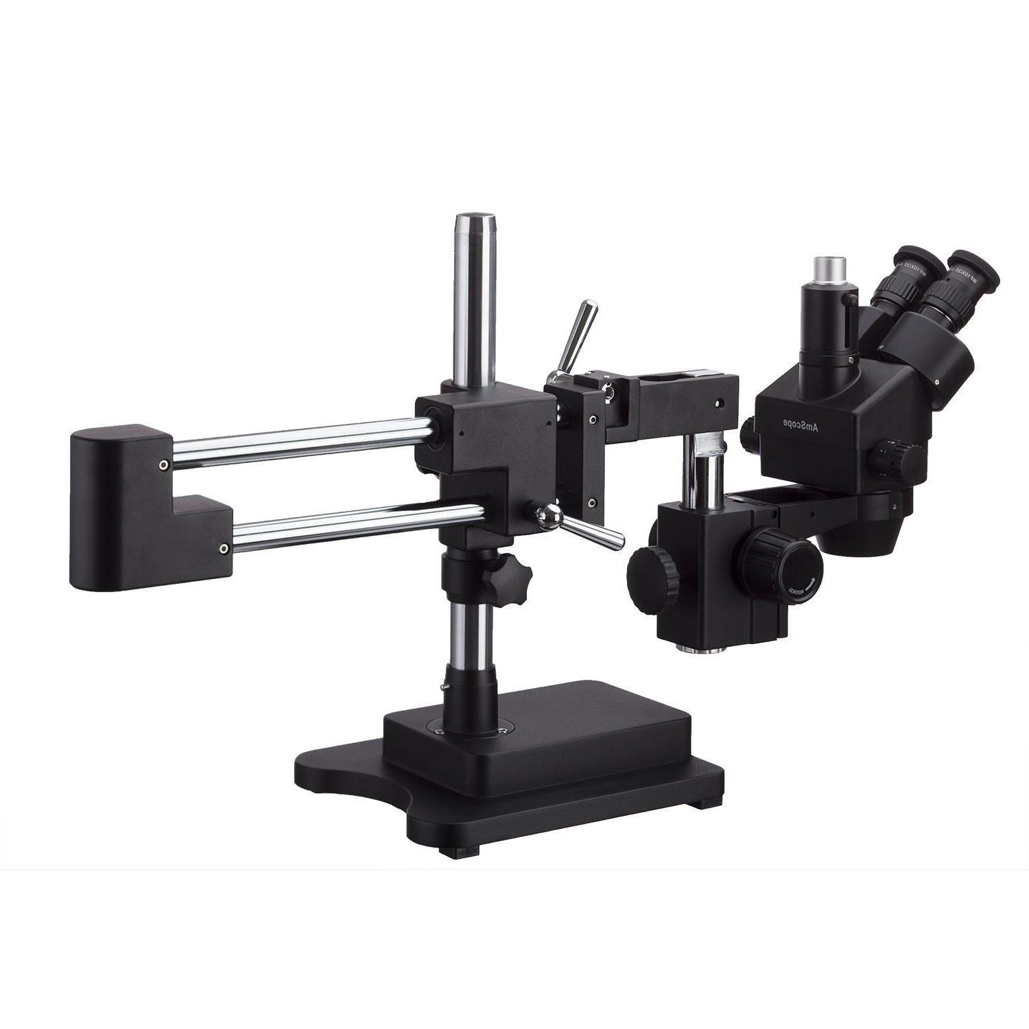 AmScope Stereo Zoom Microscope Double Arm