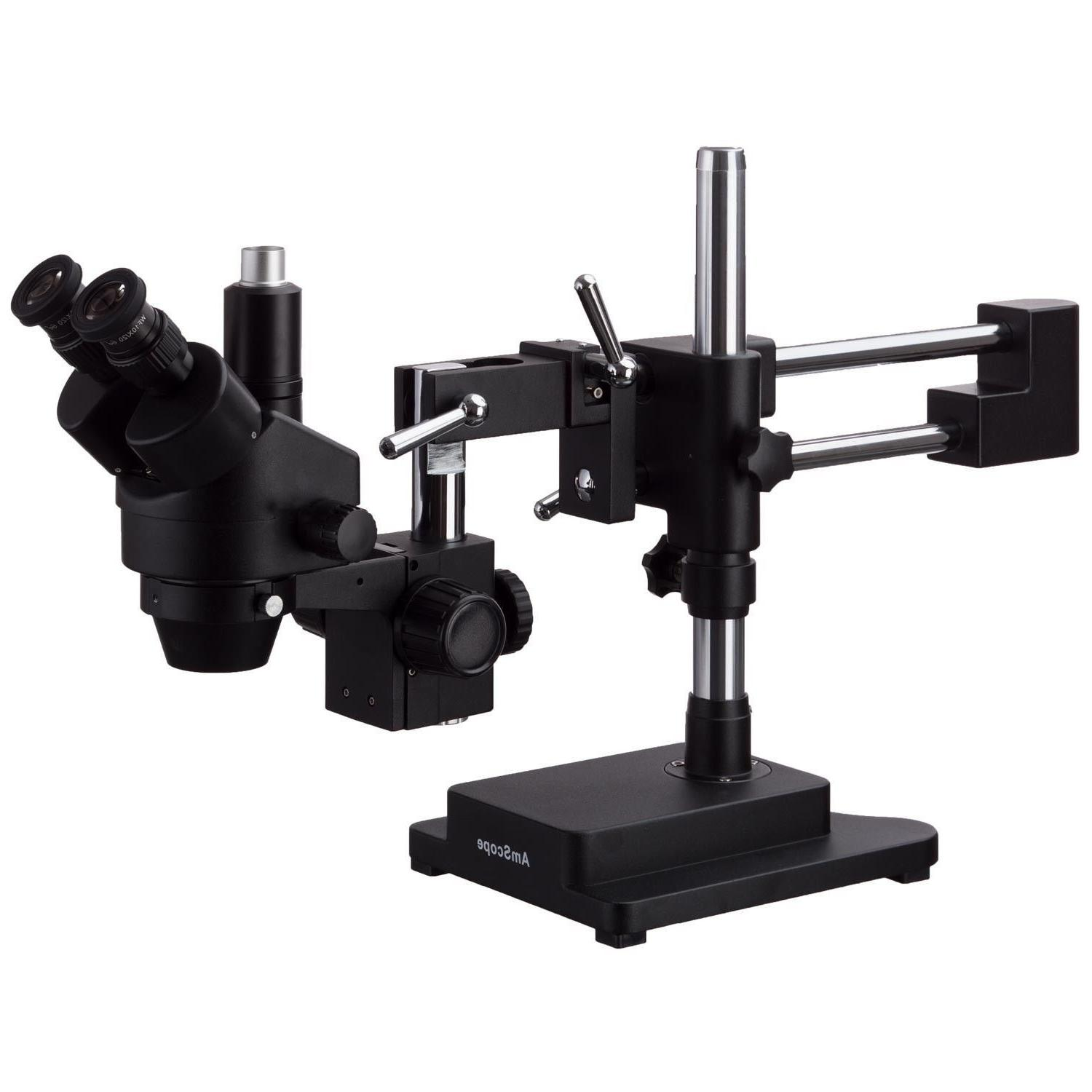 AmScope 3.5X-90X Stereo Zoom + Double Arm