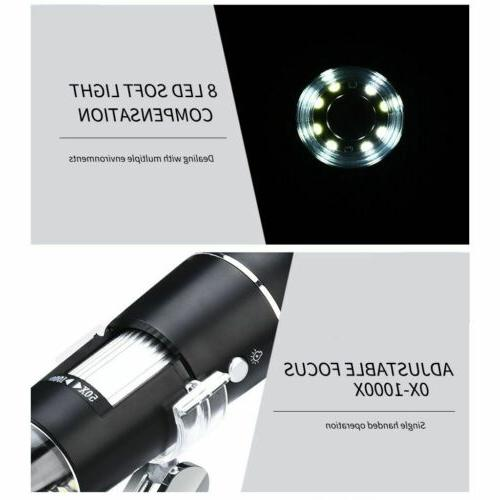40X-1000X LED Microscope Camera Handheld Magnification