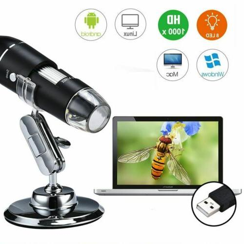 40X-1000X 8 Digital Microscope Magnification Endoscope