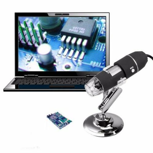 40X-1000X 8 LED Microscope Magnification