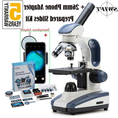 40x 1000x edu compound microscope lab phone