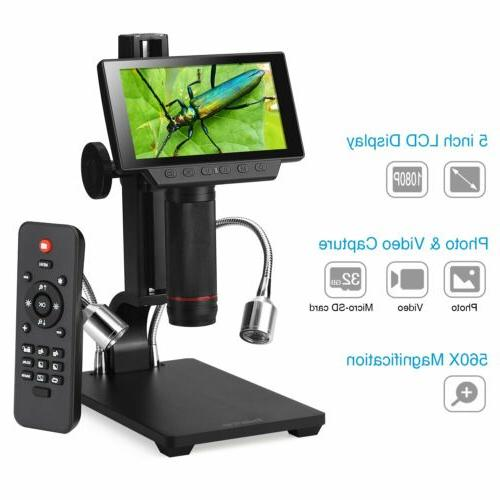 5inch lcd 1080p wireless digital microscope up