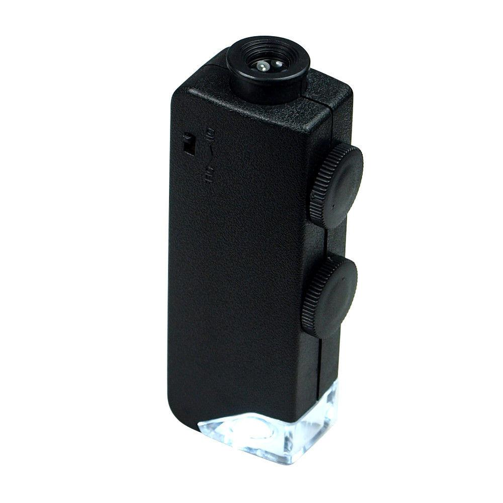 60x 100x zoom led lighted mini microscope