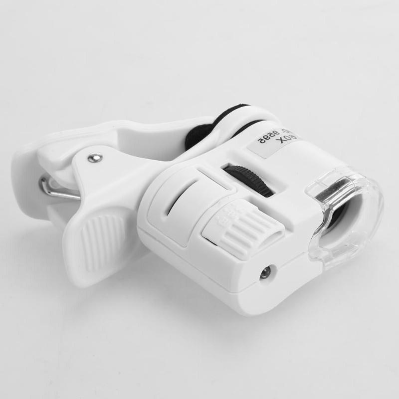 60X Mobile Magnifying LED Tools Magnification With Clip With LED Light